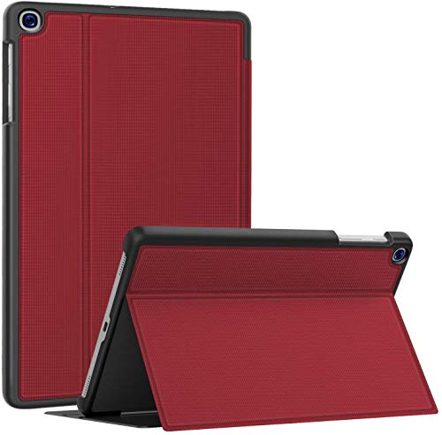Soke Case for Galaxy Tab A 10.1 2019 (SM-T510/T515), Ultra Slim TPU Backshell, Folio Stand Cover with Multi-Viewing Angles For Samsung Galaxy Tab A 10.1 Inch 2019 Tablet, Red