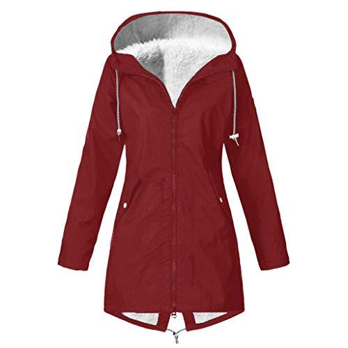 Vrouwen Winter Warm Dikke Regenjas Dames Lange Mouw Effen Kleur Outdoor Klimmen Bovenwerk Waterprroof Winddicht Plus Size