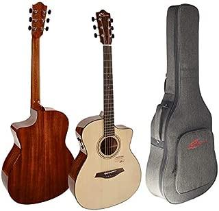 Vangoa Guitarra Ac/ústica 41 pulgadas Corte Dreadnought Guitarra Folk para Principiantes 4//4 Pulido Natural