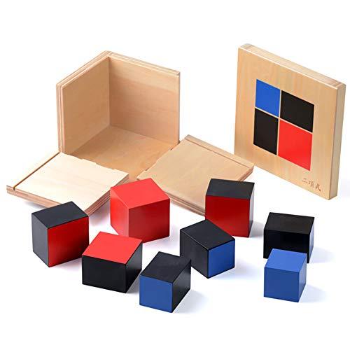 Montessori Binomial Cube,Montessori Math Toys Sensorial Materials for Toddlers,Kids