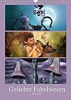 Geliebte Fabelwesen (Wandkalender 2022 DIN A3 hoch): Eine Reise durch das Fabelland (Monatskalender, 14 Seiten )