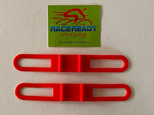 2 RaceReady - Elastic Band Handlebar Accessory Straps - Flashlight Torch Holder (Red)