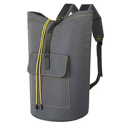 Gris Oscuro, XL WOWLIVE Bolsa de lavander/ía Extragrande de 115 L con Correas Ajustables para el Hombro Gris Claro 15x 28