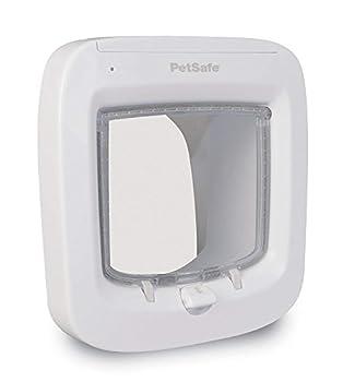 PetSafe Chatière à Puce Électronique avec Micropuce/Robuste Facile à Installer pour Chat Blanc