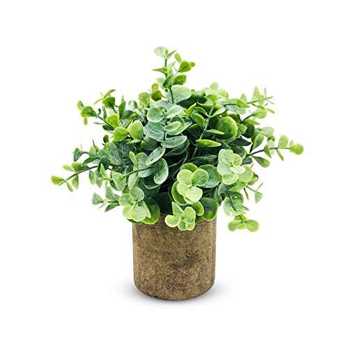 XGzhsa Piante finte in vaso da interno, piante artificiali decorative, piante finte in plastica Pianta verde con vaso adatto per home office da tavolo decorazione da esterno per interni (H01)