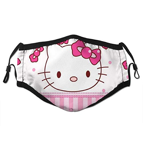 Hello Kitty Unisex Reusable outdoor face mask Colorful Hello Kitty Adults Adjustable Earloop Mouth Face Cover Washable