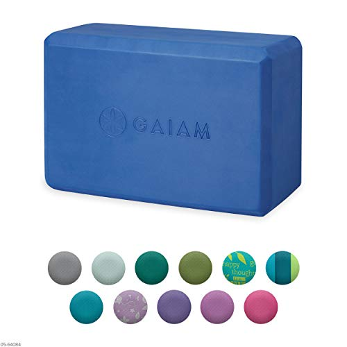 Gaiam Yoga Block - Supportive Latex-Free EVA Foam Soft Non-Slip Surface for Yoga, Pilates,...