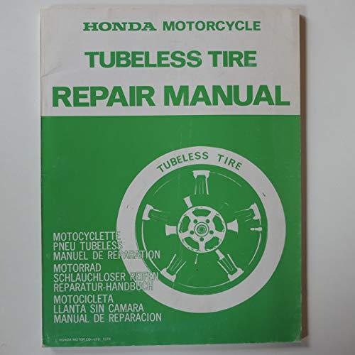 Honda Motorrad Schlauchloser Reifen Reparaturhandbuch