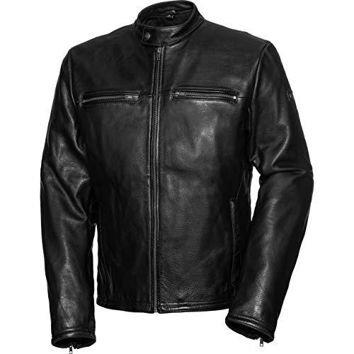 Spirit Motors Motorradjacke mit Protektoren Motorrad Jacke Retro-Style Lederjacke 5.0 schwarz L, Herren, Chopper/Cruiser, Sommer, Leder/Textil