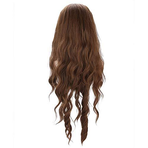 Wellenförmige Perücke Für Frauen, Schwarzbraune Blonde Synthetische Perücken, Lange Haarperücken Kunsthaar Für Cosplay, Friseurstudenten üben Gebrauch