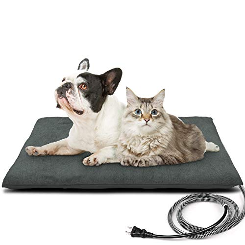 Outdoor Pet Heating Pads for Dog,Soft Electric Blanket Auto Temperature Control,Heated Mat for Dog House,Whelping Supply for Pregnant New Born Stray Feral Cat Puppy,Safe