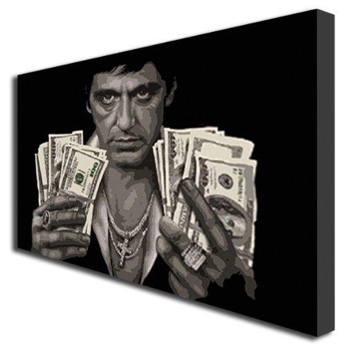 Box Prints 405 Toile décorative Motif Scarface Tony Montana
