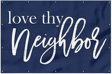 Yes Basic Navy Wind-Resistant Outdoor Mesh Vinyl Banner CGSignLab We are Open 6x4