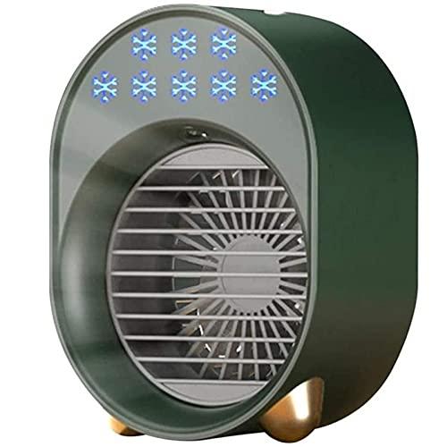 Condizionatore D'aria Portatile, Condizionatore Da Tavolo 4 in 1 Cool Unit Mini Condizionatore D'aria Personale Con Luce Notturna A 7 Colori, Per L'ufficio Da Viaggio A Casa,Verde