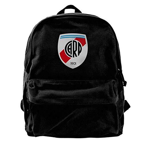 Yuanmeiju Canvas Backpack River Plate FC Rucksack Gym Hiking Laptop Shoulder Bag Daypack for Men Women