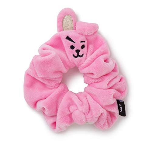 BT21 COOKY Character Scrunchie Elastic Hair Tie Band Accessories for Girls, Pink