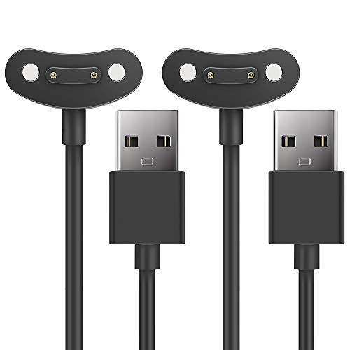 TUSITA [2 Piezas] Magnética Cargador Compatible con TicWatch Pro 3, Pro 3 LTE - Cable de Carga USB 3,3ft 100cm - Smartwatch Accesorios
