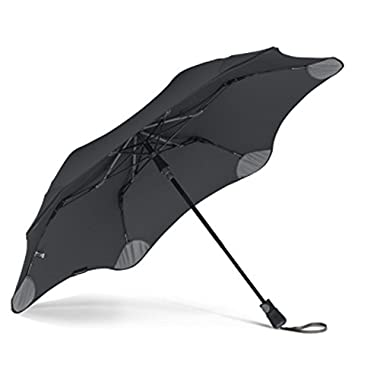 "BLUNT Metro Travel Umbrella with 37"" Canopy and Wind Resistant Radial Tensioning System - Black"