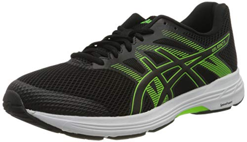 Asics Herren Gel-Exalt 5 Running Shoe, Black/Green Gecko, 44 EU