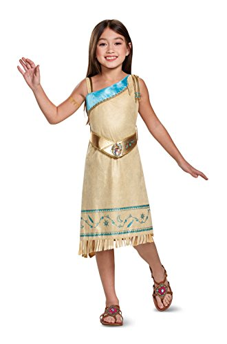 Pocahontas Deluxe Costume, Brown, Small (4-6X)