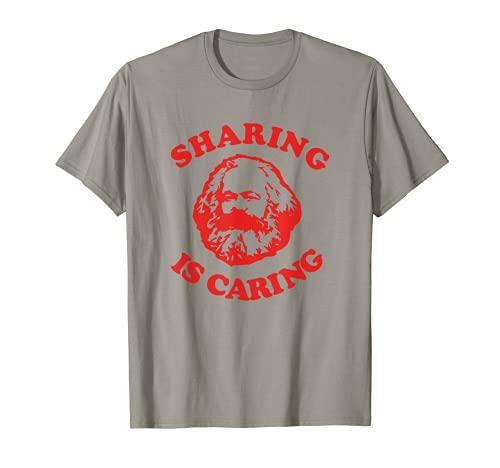 Karl Marx Sharing es la camiseta socialista de izquierda comunista socialista Camiseta