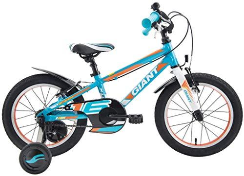 WSJ Bicicleta para niños 16 Pulgadas con Ruedas de Entrenamiento Marco de aleación de Aluminio para Bicicleta para niños 100-120cm
