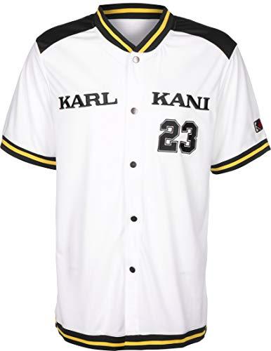 Karl Kani Herren Hemden College Baseball weiß M