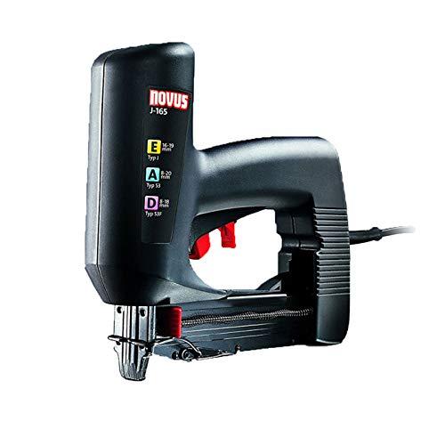 Novus Elektrotacker J-165 Profi, rückschlagarmer Universal-Tacker, Nachschlagfunktion, verarbeitet Klammern und Nägel