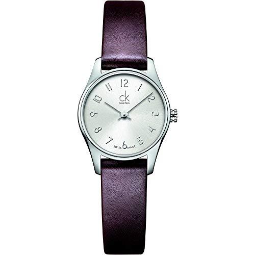 Calvin Klein–Reloj de Pulsera analógico para Mujer Cuarzo Piel K4D231G6