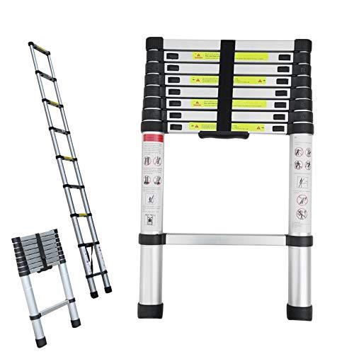 8.5ft 2.6M Telescopic Attic Loft Ladders Max Load 330lbs, Retractable...