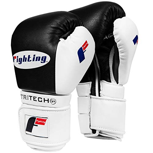 Fighting Sports Tri-Tech Tenacious Training Gloves, Black/White, 16 oz