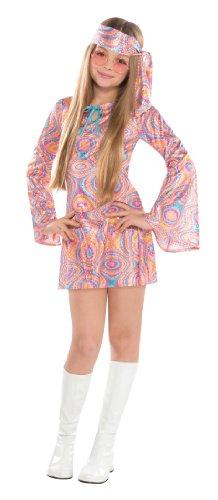 amscan 997016 Girls Classic Costume with Swirl-Printed Details-Age 12-14 Years-1 PC Klassisches Disco-Diva-Kostüm für Mädchen mit Wirbel-Aufdruck, Alter 12–14 Jahre, 1 Stück, Mehrfarbig