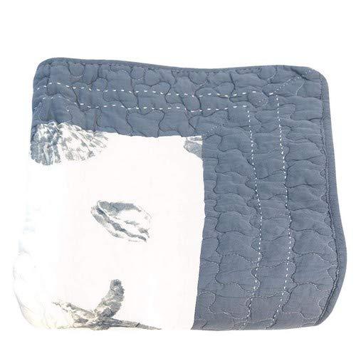 Clayre & Eef Q185.059 Bettüberwurf/Bett Decke Blau Muscheln Maritim Ca. 140 x 220 cm