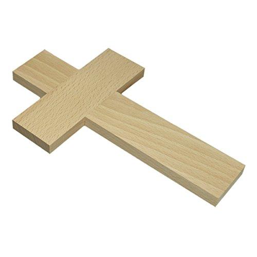 Piccolino Bastelbedarf Wandkreuz Holz Kreuz zum Bemalen & Selbstgestalten 20cm