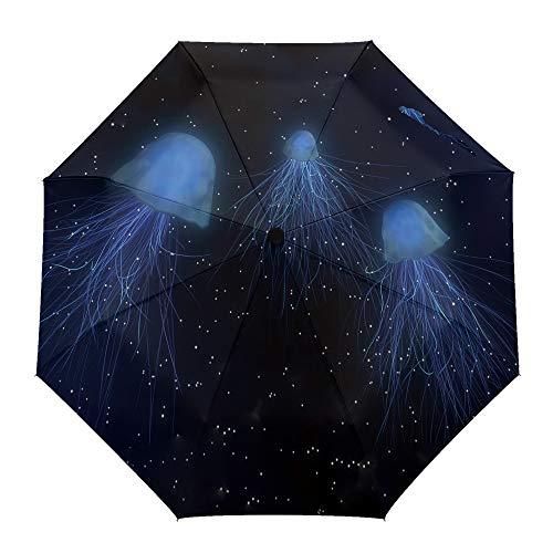 Paraguas plegable de viaje Navarro con patrón de rombos indios, apertura automática/cierre al aire libre, compacto, resistente al viento, para hombres/mujeres/niños