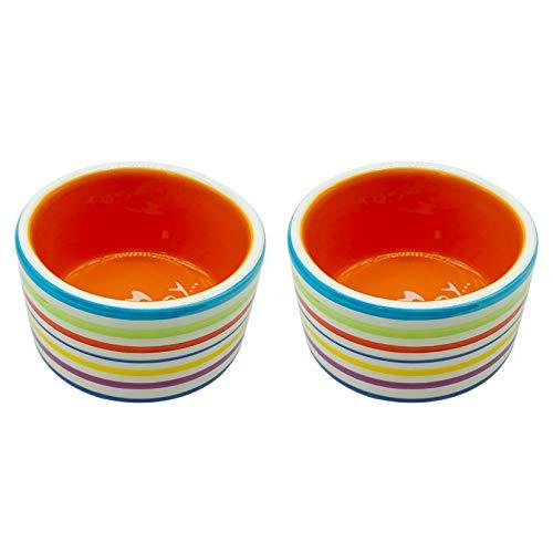 Hamster Food Bowl Ceramic Water Bowl Small Animal Feeding Bowl Food Dish 2 PCS for Guinea Pig Rodent Gerbil Syrian Hedgehog