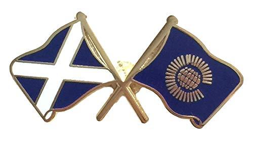 Schottland & Commonwealth Flaggen Freundschaft Höflichkeit Emaille Pin-Anstecker