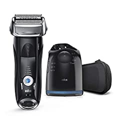 The Braun Series 7 is a 100% waterproof smart electric shaver designed for a close and gentle shave - engineered in Germany to last up to seven years Built-in responsive intelligence automatically adapts to the features of your face, for a shave that...