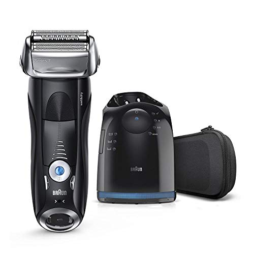 Braun Electric Razor for Men, Series 7 7880CC Electric Shaver With Precision Trimmer, Rechargeable, Wet & Dry Foil Shaver, Clean & Charge Station & Travel Case