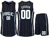 Dll Jerseys del Baloncesto Set - NBA Orlando Magic, 00 Aaron Gordon Baloncesto Camisa Bordada Jersey Chaleco del Verano Pone en Cortocircuito for la Aptitud, Entrenamiento, Ciclismo
