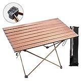 1yess Léger Camping Table de Jardin Table Aluminium Matériel Alliage, Support léger à Toit...