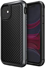 Raptic Lux, Compatible with Apple iPhone 11 (Formerly Defense Lux) - Military Grade Drop Tested, Aluminum, TPU, and Polycarbonate Protective Case for Apple iPhone 11, Black Carbon Fiber