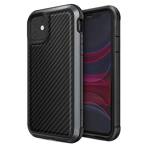 Raptic Lux, Compatible with Apple iPhone 11 Pro Max (Formerly Defense Lux) - Military Grade Drop Tested,Aluminum, TPU, and Polycarbonate Protective Case for Apple iPhone 11 Pro Max, Black Carbon Fiber