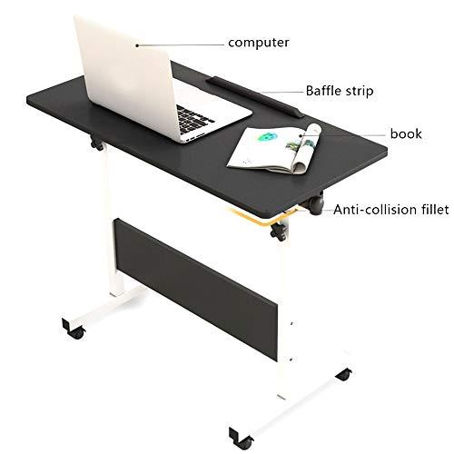 Notebooktisch Höhenverstellbar, Computertisch Laptoptisch PC-Tisch Mit Rollen, Laptopständer, Frühstückstisch for Home Office (Color : A, Size : 80x40cm)