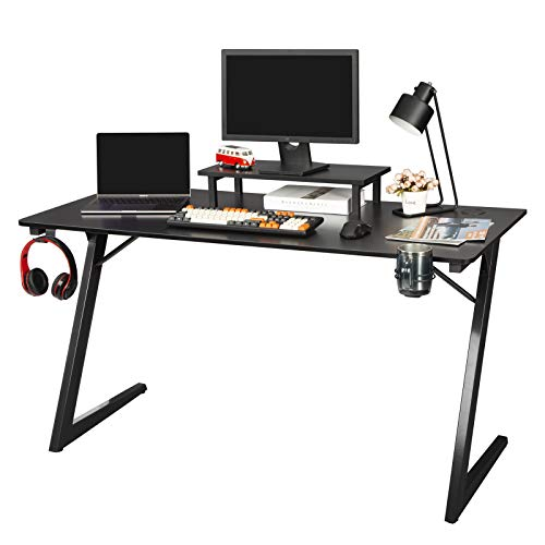 TOPSKY Gaming Desk with Monitor Shelf