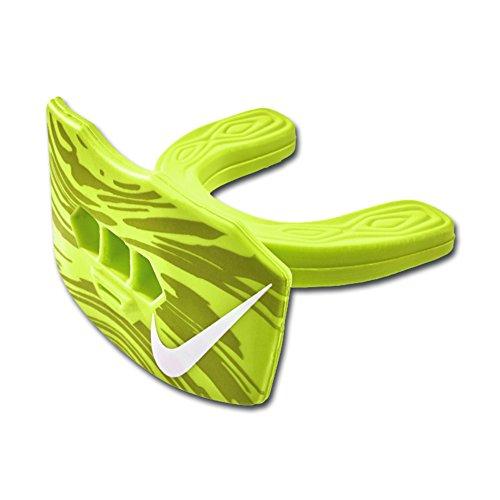Nike Game-Ready Lip Protector Mundschutz mit Lippenschutz und Strap, Senior, Neongelb