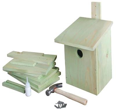 Esschert design KG52 24 x 22 x 17cm Children's Wood Set of Building Bird House - Natural from Esschert