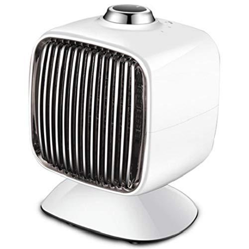 Calefactor Ceramico Bajo Consumo Mini Ajuste De Tres Velocidades Diseño De Conductos De Aire Por Convección Calefacción Cerámica PTC El Aislamiento No Está Caliente Para Oficina, Dormitorio,Blanco