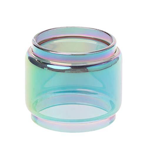 Fahou Regenbogen Transparent Vape Glasrohr Glas Tank Elektronische Zigarette Zubehör Für Tfv12 Prince Verdampfer Zerstäuber