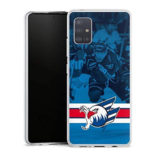 DeinDesign Silikon Hülle kompatibel mit Samsung Galaxy A51 5G Case transparent Handyhülle Eishockey Logo Adler Mannheim